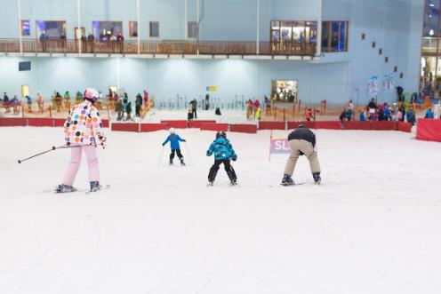 Indoor ski slopes offer ski-based adventure all year round