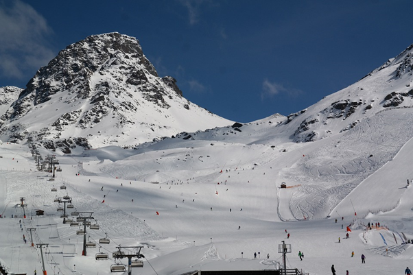 The snowy slopes of Ischgl