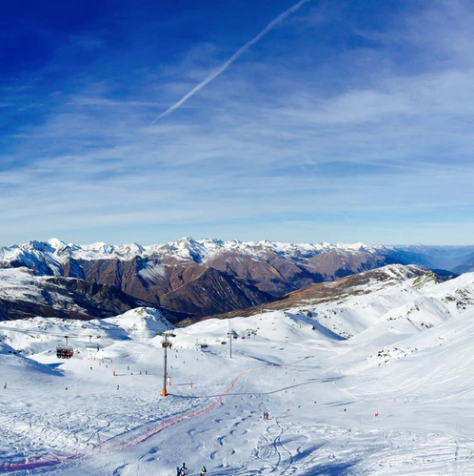 The French ski resort of Meribel
