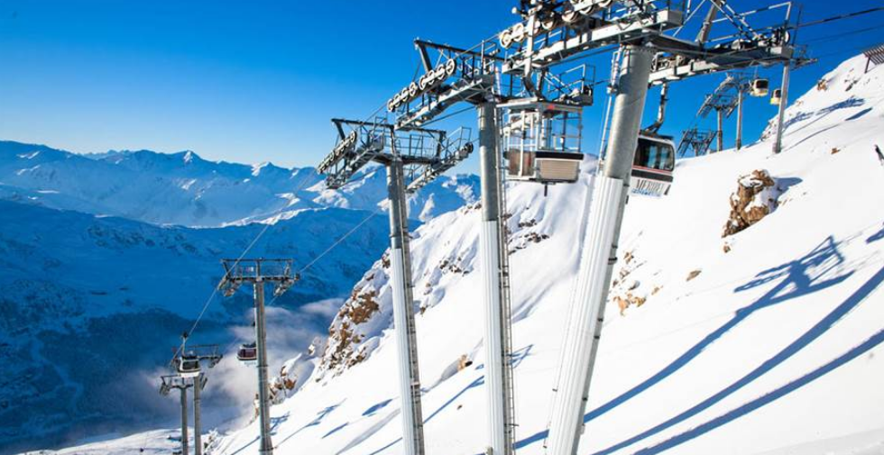 Ski lifts in Meribel carry skiers to the four corners of the Three Valleys swiftly