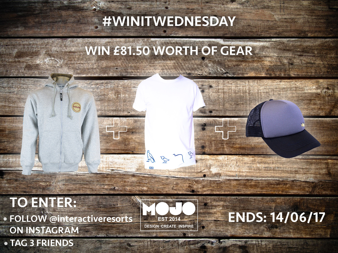 Apres-ski wear, including a hoodie, tee shirt and cap, to be won in Interactive Resort's #WinItWednesday competition