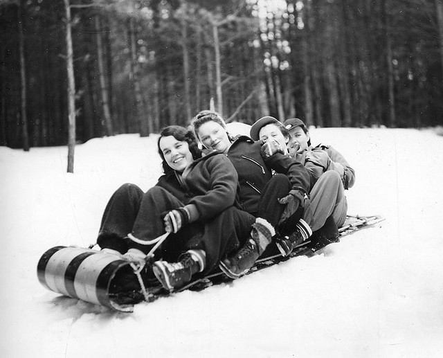 Old school tobogganing