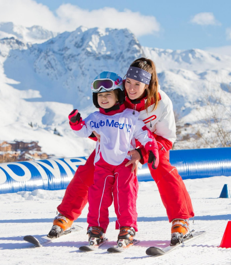 a family with club med in la rosiere