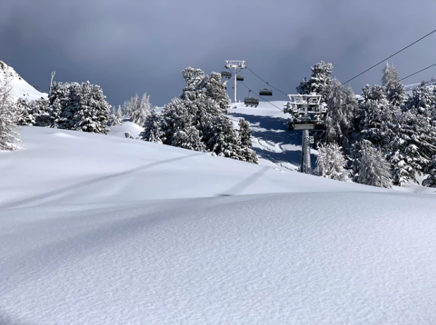 The rolling pistes of Iscghl attract skiers and boarders from across the world
