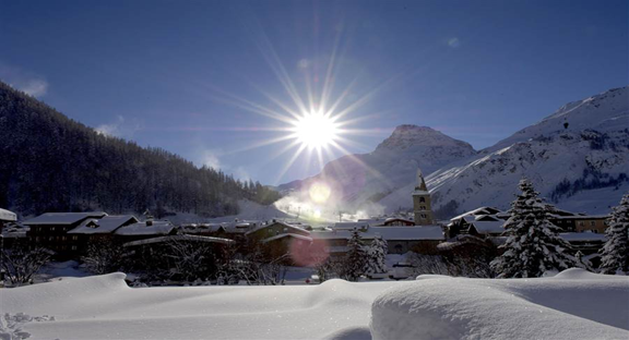 The beautiful alpine resort of Val d'Isere